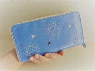 SORA ni TORI(つゆ草blue)ヤギ革/ラウンドファスナー型の画像