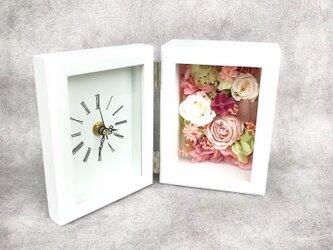 【受注製作】花フレーム時計 エレガントピンクの画像