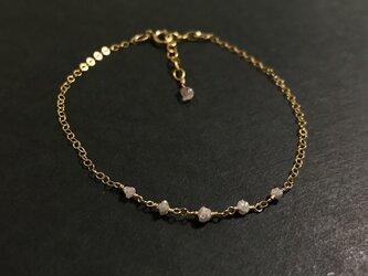 【4月誕生石】ダイヤモンドのブレスレット【K14GF】の画像