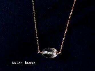 14KGF☆高品質☆水晶の一粒ネックレス(ロング)の画像