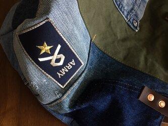 basic■デニム好きさんのトートSサイズ☆本革#b37カーキの画像