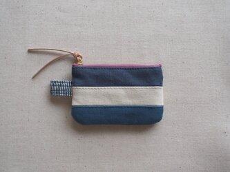 3色 ポーチ S / ブルー系の画像