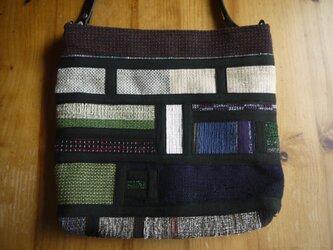 裂き織りショルダーバッグ NO1の画像