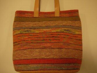 裂き織りバッグ No22の画像