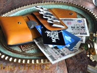 イタリアンバケッタ・エルバマット・2つ折りコインキャッチャー財布(改)(ミモザ)の画像