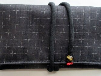 送料無料 紬で作った和風財布・ポーチ 3611の画像