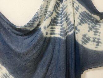 ニットシルク 本藍染ストールの画像