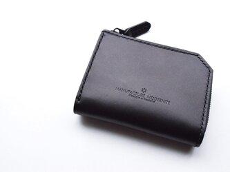 [受注生産品] 栃木レザー L字ファスナーハーフウォレット(BLACK) MNW-05の画像