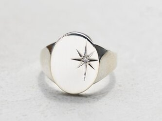シグネットリング【First Star】(ダイヤモンド)★受注制作★の画像