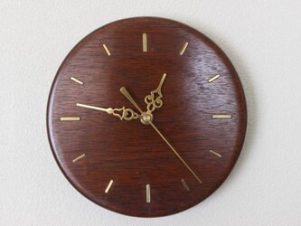 マホガニーの壁掛け時計 No.14025の画像