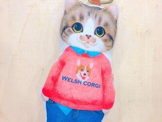 『猫好きによるねこ好きのため』のふわふわキーホルダー わんちゃんトレーナー君の画像