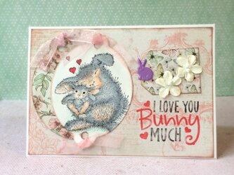 うさぎの親子カードの画像