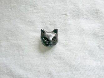 猫  ピンブローチの画像