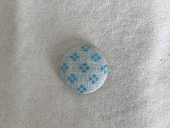 マグネット〈花十字の応用×水色〉2.9cmの画像
