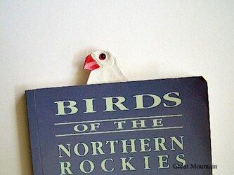 文鳥 白文鳥 革 インコ しおり 鳥 プレゼントの画像