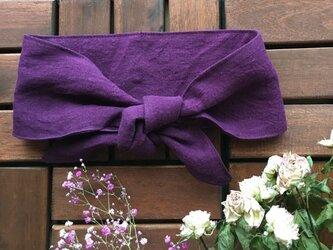 保冷剤 リネン 東炊き ラベンダー 濃紫 節約 快適 エコ スカーフ ネッククーラーの画像