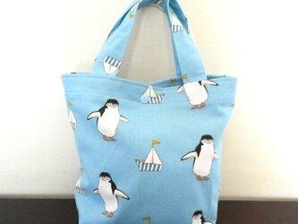 ペンギンの夏トートバッグの画像