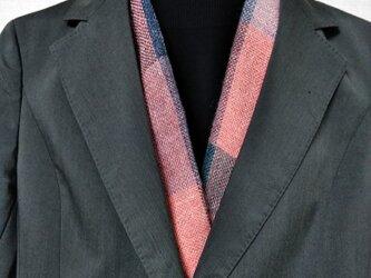 半襟のような手織りマフラーの画像