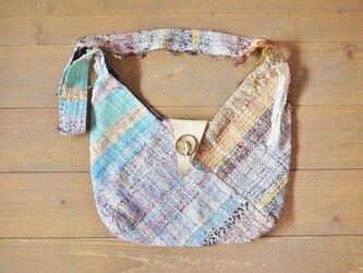 ◆SALE◆手織り 折り紙ショルダーバッグLの画像
