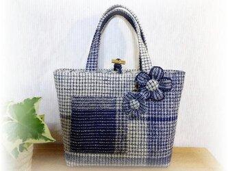 麻糸で織った夏バッグ B-102の画像