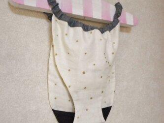 やわらかガーゼのぬくぬくパンツ(ふんどしパンツ・アイボリー星屑柄)の画像