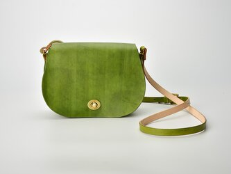 【切線派】バージョンアップ 本革 ショルダーバッグ クラシックサドルバッグ 手染め / 総手縫い (TL050013)の画像