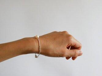 あこや真珠×カレンシルバー・シンプル一粒ブレスレット b0652の画像