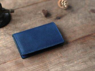 藍染革[migaki] カードケースの画像