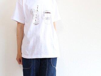 コーヒー&レモネードTシャツ【白】90〜XXLサイズ選べますの画像