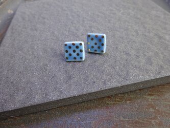 金彩dot square pierce/earring(水色)の画像