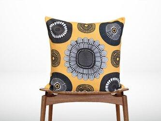 森のクッション Sunflower back Yellow  -ヒノキの香り-の画像