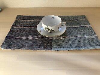 手織り ランチョンマットの画像