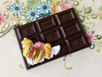 スイーツデコ 板チョコミラー ハンバーガーの画像