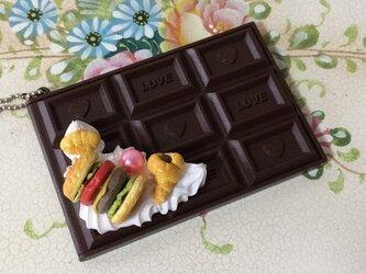 スイーツデコ 板チョコミラー ハンバーガー2の画像