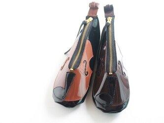 新バイオリン♪ポーチ メガネ、ペンケース  バッグチャームの画像