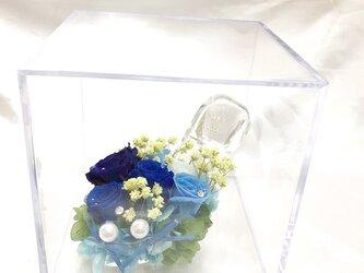 【プリザーブドフラワー/ブルーローズの本当のガラスの靴シリーズ】シンデレラの魔法の時間の画像