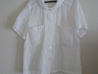 綿レースのシャツの画像