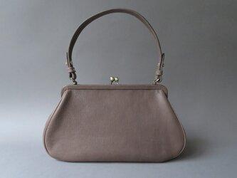 plain gama hand bag -round (gray)の画像