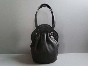stitch hand bag (black)の画像