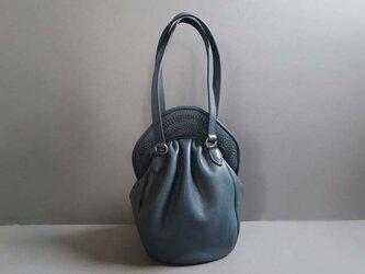 stitch hand bag (blue)の画像