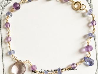 〈14kgf〉紫陽花カラーのブレスレットの画像