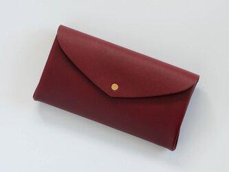 basic long wallet #wine red / ベーシックロングウォレット 長財布 #ワインレッドの画像