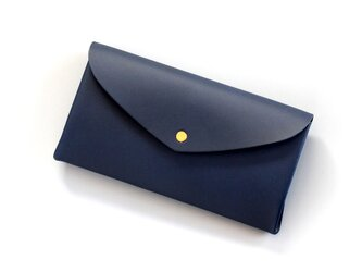 basic long wallet #navy/ ベーシックロングウォレット 長財布 #ネイビーの画像