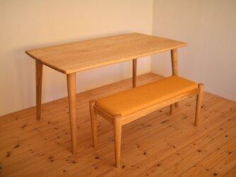 オーク材よりも軽い!優しい形のマロン(クリ)材の総無垢のダイニングテーブル※(オーダー可!)の画像
