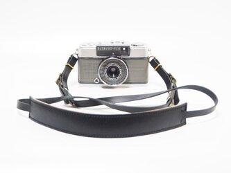 デジカメ・コンパクトカメラ用の金具付き本革カメラストラップ キャメル系【受注生産】の画像