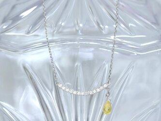 『品格を纏う』イエローサファイア/ダイヤモンド/pt900の画像