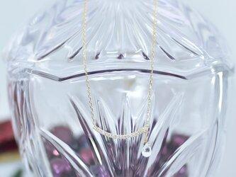 品格を纏う』ホワイトサファイヤ/ダイヤモンド/k18YGの画像