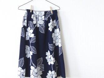 浴衣のシンプルギャザースカートの画像