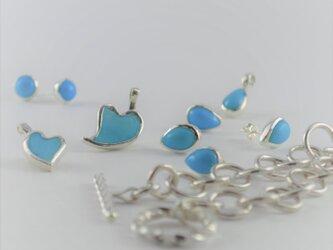 Turquoise Heart Pendant -L-の画像