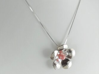 Flower Pendant with Rhodochrositeの画像